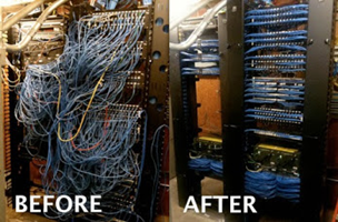 wiring and cabling our team of trained professionals will assist you in determine the most efficient way to reorganize your equipment and wiring to maximize your goal